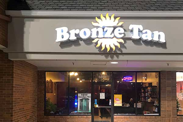 Bronze tan brentwood bronze tan st louis for A m salon equipment st louis mo